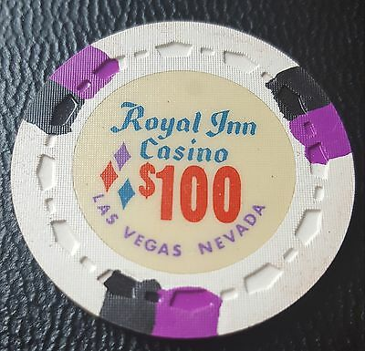 $100 Las Vegas Royal Inn Casino Chip - UNC
