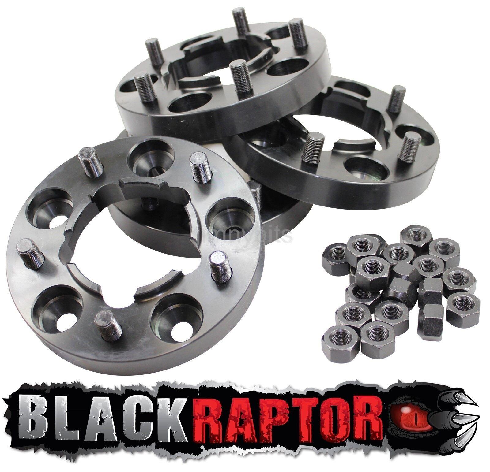 Negro Raptor Hubcentric 30 mm Aluminio Land Rover Defender Rueda Espaciadores 90 110