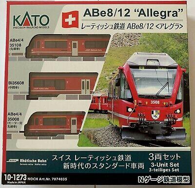 Noch 7074035 / KATO 10-1273 - Allegra ABe 8/12 #3508 #Neu in...