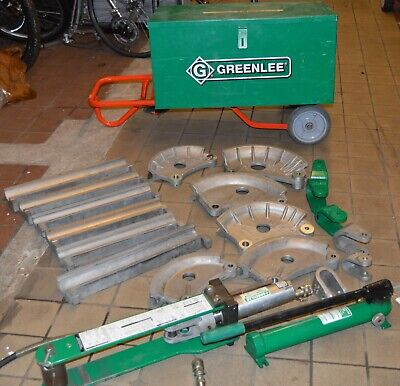 Greenlee 882cb Hydraulic Pipe Bender W Greenlee 755 High-pressure Hand Pump