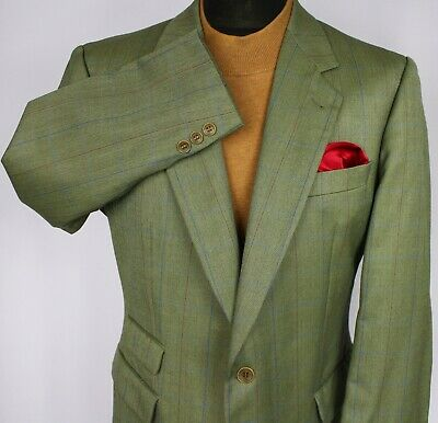 Burberry Blazer Jacket Green Lightweight Wool 42S AMAZING QUALITY 3123