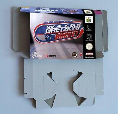 Wayne Gretzky's 3D Hockey - repro box with insert - N64 - Pal . HQ !