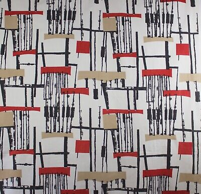 vintage 1950s Horrockses Fusion abstract print cotton interiors fabric length