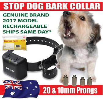 STOP DOG BARKING SHOCK COLLARS - AUTOMATIC  * RECHARGEABLE