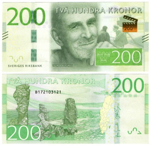 Sweden - 200 Kronor 2015 UNC Ingmar Bergman