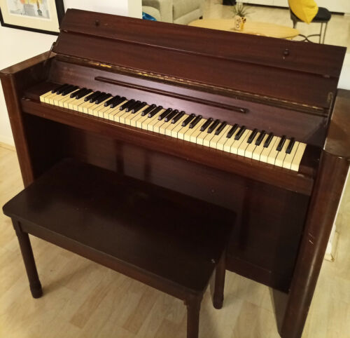 EAVESTAFF PIANETTE mfr HARDMAN PECK upright Piano with matching Bench VINTAGE