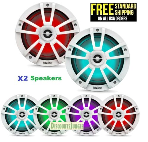 """Infinity 822MLW Reference 8"""" Coaxial Marine Boat 450W RGB LED White (Set of 2)"""