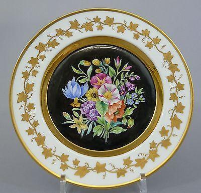 (K003) KPM Berlin Zierteller bunte Blumenmalerei, D=24,5cm, um 1820