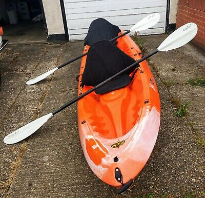 Robson Kailua 2 Person Sit On Top Kayak, 2 Wolferine Paddles and mooring line.