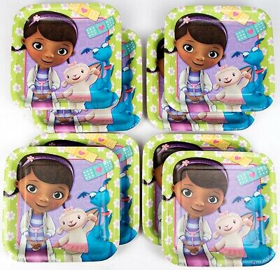 Doc Mcstuffins Dessert Plates Value Birthday Party Supplies Pack (24