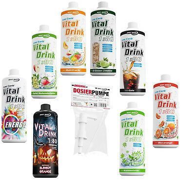 Best Body Nutrition Low Carb Vital Drink - 1000 ml Flasche + BBN Dosierpumpe