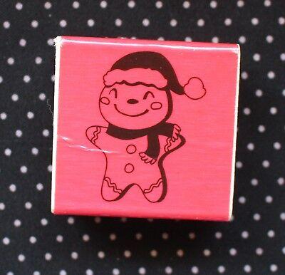 Craft Smart Gingerbread Man Wooden Rubber Stamp Holidays Christmas Season](Gingerbread Man Craft)