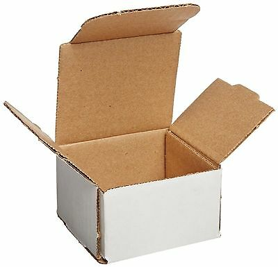 50 - 3x3x2 Small White Corrugated Cardboard Packaging Shipping Mailing Box Boxes