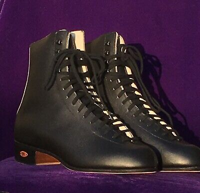 Vintage Riedell 220 Black Leather Skate Boot Size 9 W