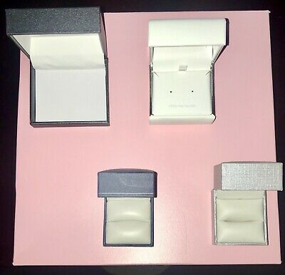 Lot Of Vintage Jewelry Presentation Gift Boxes Hinged Empty Lot Of 4