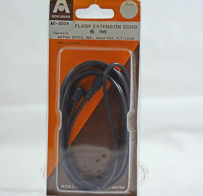 Used, ROKUNAR 6 FT CAMERA FLASH EXTENSION CORD (MALE-FEMALE) for sale  Shipping to India