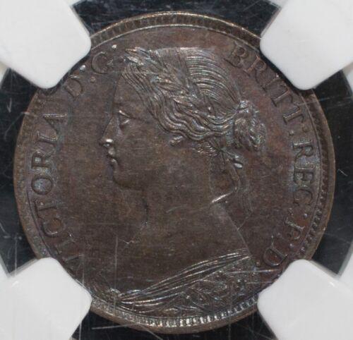 1864 Nova Scotia Bronze Half Cent UNCIRCULATED MS 64 BN NGC 1/2C