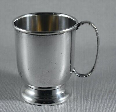 VICTORIAN SILVER PLATE SMALL TANKARD CUP JAMES HOWARD & SON