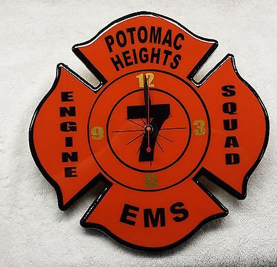 Custom Built Firefighter Maltese Clocks Fire Department Volunteer Fireman Clock