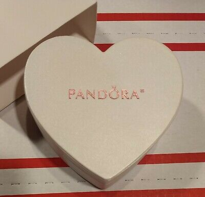 100% AUTHENTIC PANDORA CREAM HEART WITH PINK LETTERING JEWELRY SET GIFT BOX