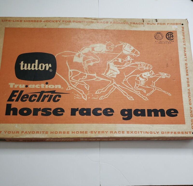 Tudor Electric Horse Race Game in Original Box /w All Parts