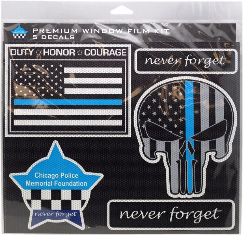 CPD Memorial Punisher 5pcs Window Decal
