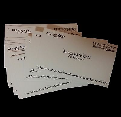 Patrick Bateman Business Cards 10,20,40 PACK Halloween Costume American Psycho  - 10 Halloween Costumes
