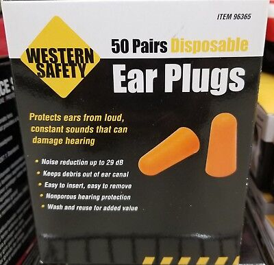 50 Pairs Disposable Ear Plugs