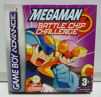 MEGA MAN BATTLE CHIP CHALLENGE NINTENDO GAME BOY ADVANCE GBA NEW PAL...
