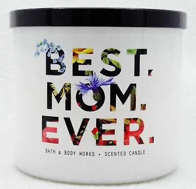 1 Bath Body Works BEST MOM EVER - FRESH CUT LILACS 3-Wick Scented Large