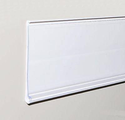 39mm White Shelf Edge Data Strip 1250mm Long 25 Pack