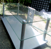Glass, three tier Tv stand Capalaba Brisbane South East Preview