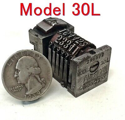 Vintage Letterpress Numbering Machine American Model 30l Forward Count 6 Digit