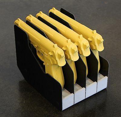 Gun Rack Accessories - Four Handgun Pistol Rack Gun Safe Accessories Organizer Storage Space Saver