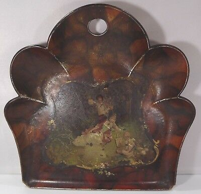 Antique Victorian Papier Mache Crumb Tray