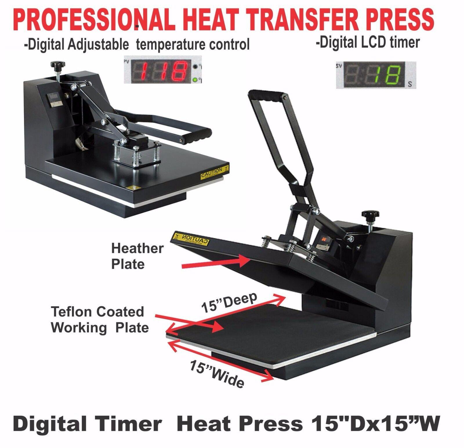 HEAT PRESS 15X15 TRANSFER SUBLIMATION ++ CANON PRINTER T-SHIRT MAKER START PACK
