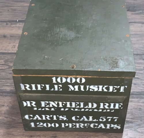1000 Musket Enfield Rifle .577 Ammo Crate