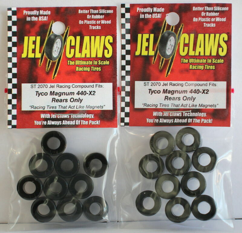 Jel Claws ST-2070 Tyco/Mattel 440x2 Rear Tires 10 pair / Free Shipping