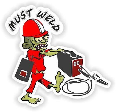 Muss Schweißen Aufkleber Zombie für Stoßstange Helm Works Tür Kühlschrank Schweißen Helm Aufkleber