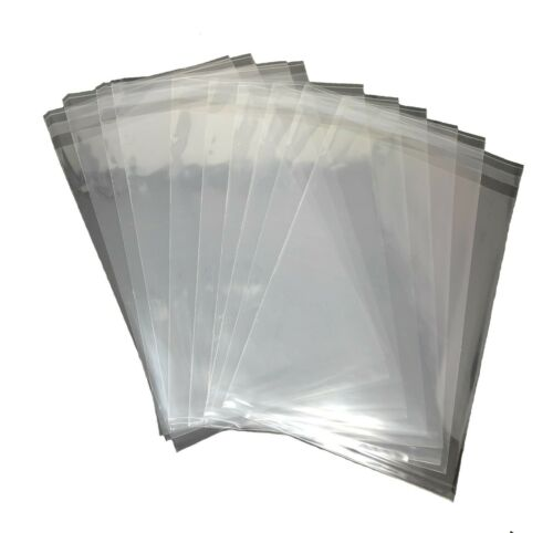 1000 Pcs 4x6 Clear Resealable Poly / Cellophane / Cello / BOPP Bags Sleeves