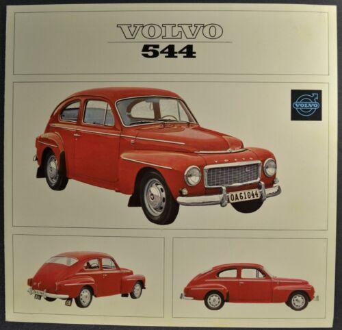 1965 Volvo 544 Sedan Sales Brochure Folder Excellent Original 65