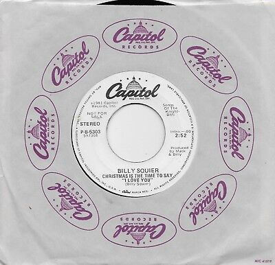 BILLY SQUIER  Christmas Is The Time To Say I Love You  rare promo 45 ()