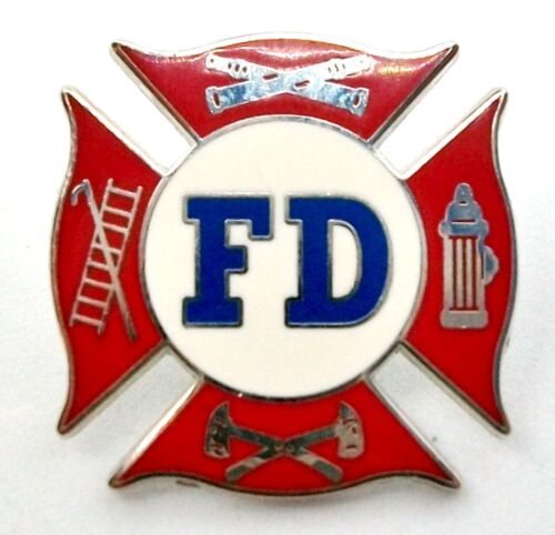 Fire Department Shield Hat Tac or Lapel Pin