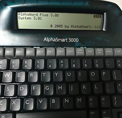 Alphasmart 3000 Upgraded Reset System 3.01 Word Processor Laptop New Batteries