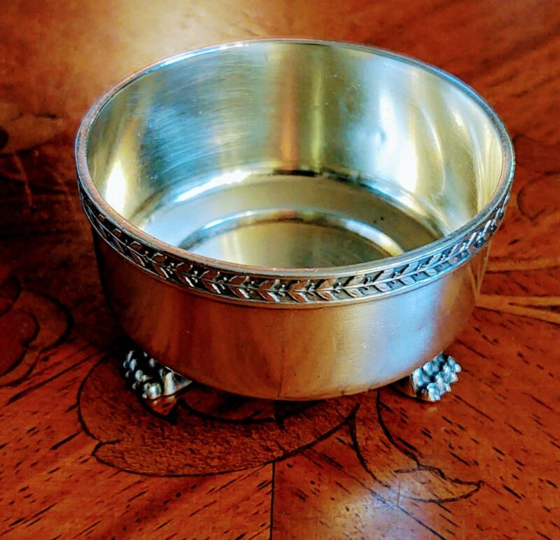Antique Russian Silver Bolin 84 Hallmark Master Salt Cellar With Lion Paw Feet!!