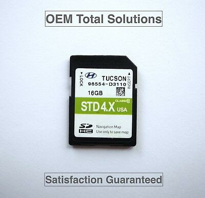 Oem-factory Nav (Genuine 2015-2017 Hyundai Tucson Navigation SD Card Map 96554-D3110 OEM Factory)