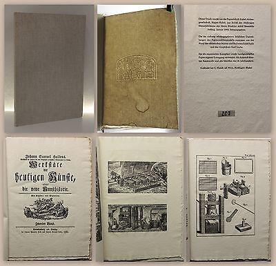 Hallens Werkstäte der heutigen Künste Kunsthistorie Papiermacher Faksimile Nr227