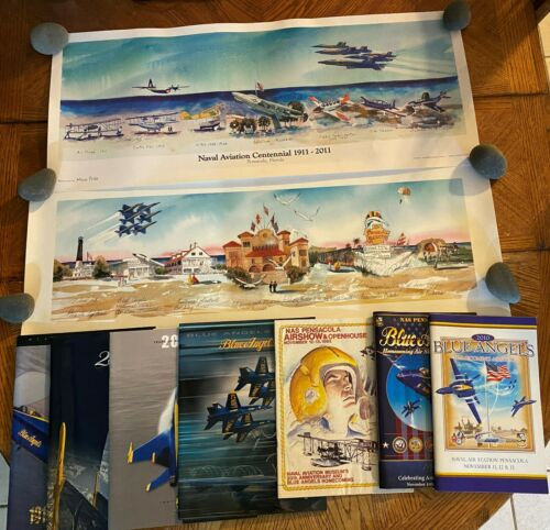 Huge Navy Blue Angels Lot of Posters, Programs, Photos + From Lead Pilots Estate