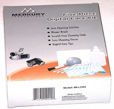 5 Piece Lens Cleaning Kit - 5 Piece Digital Lens Cleaning Kit Cleaner Care  Filter Camera screen Merkury