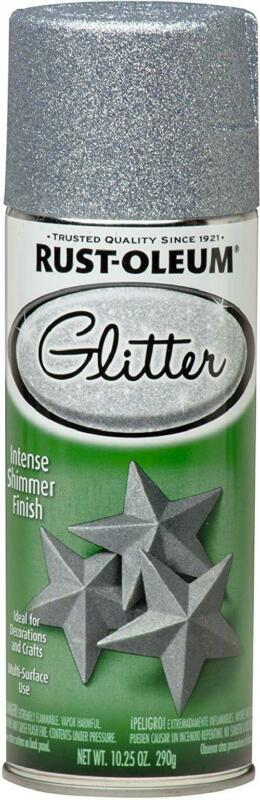 Rust-Oleum  Specialty  Glitter  Silver  Spray Paint  10.25 o